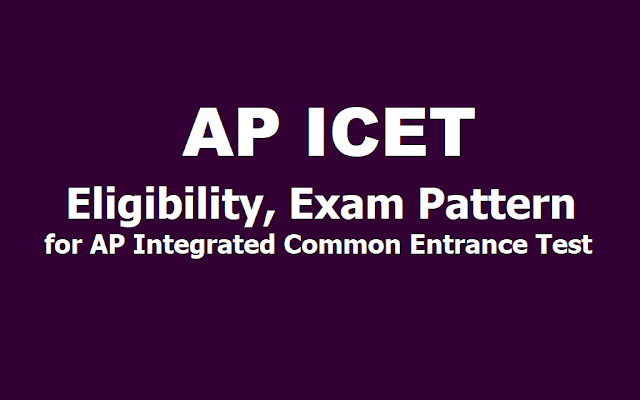 APICET 2019 Eligibility, Exam Pattern for AP Integrated Common Entrance Test