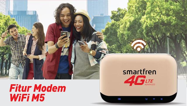 kelebihan modem wifi m5 smartfren