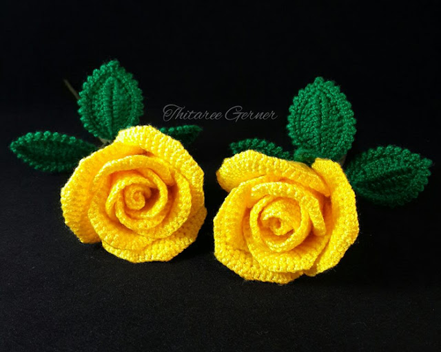 ergahandmade: Crochet Roses + Diagrams + Pattern Step By Step