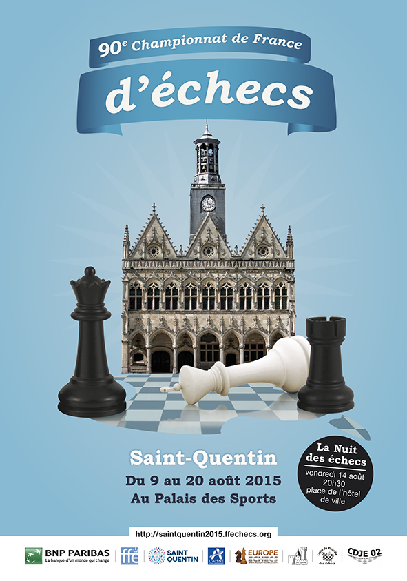Championnat de France d'échecs 2015 © Chess & Strategy