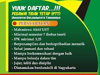 Lowongan Pegawai Tidak Tetap (PTT) Universitas Sarjanawiyata Tamansiswa (UST) Yogyakarta 2017