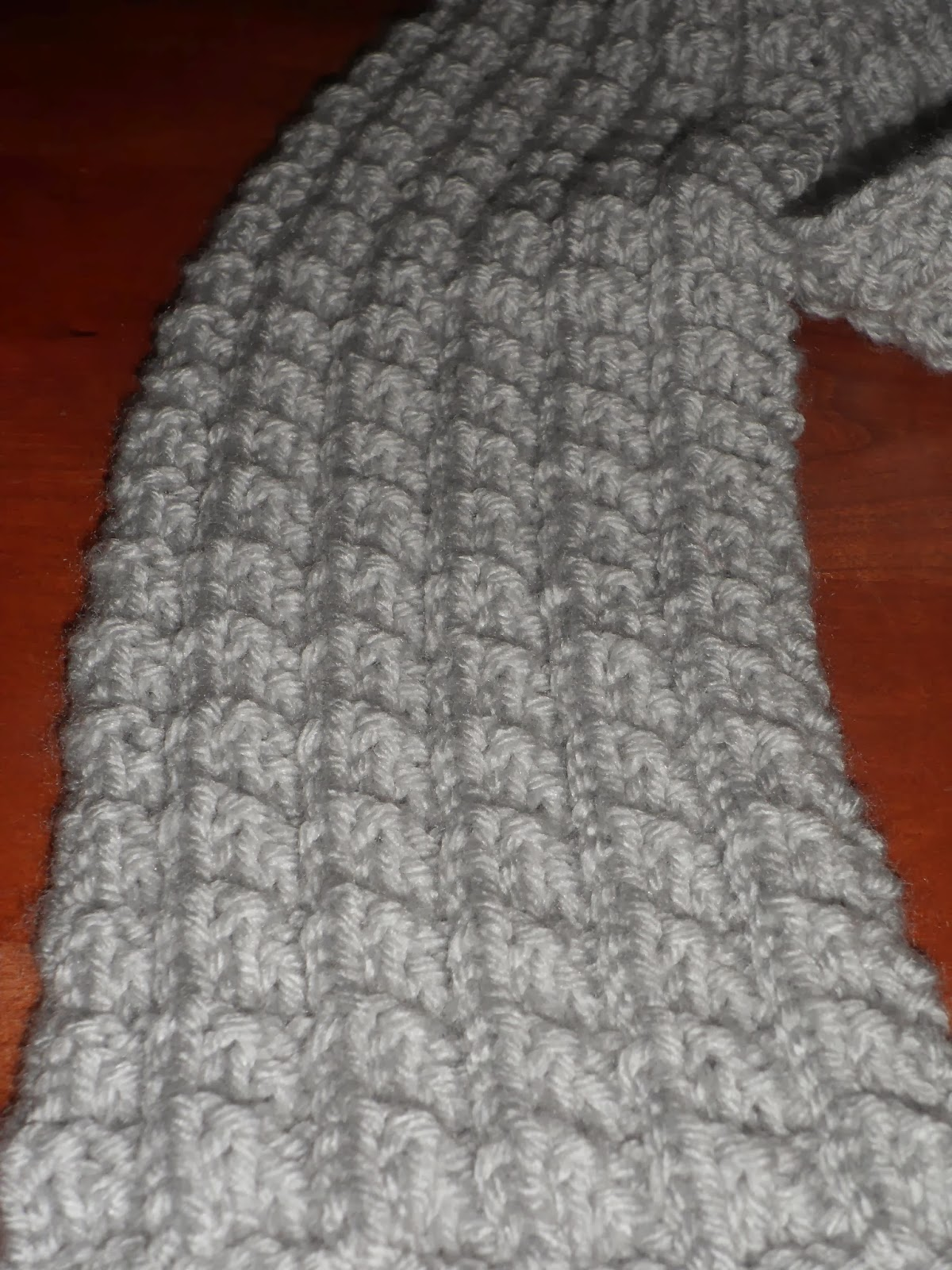 A Stitch At A Time For Amy B Stitched Ribbed Knit Scarf