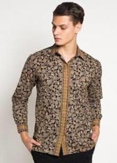 Baju Batik Lengan Panjang Buat Pria
