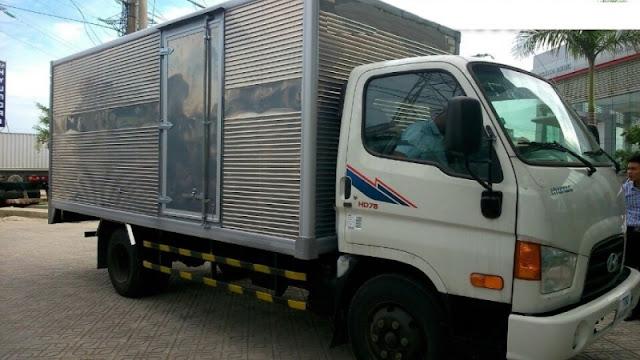 Hyundai 4,5 tấn hd78 thùng kín