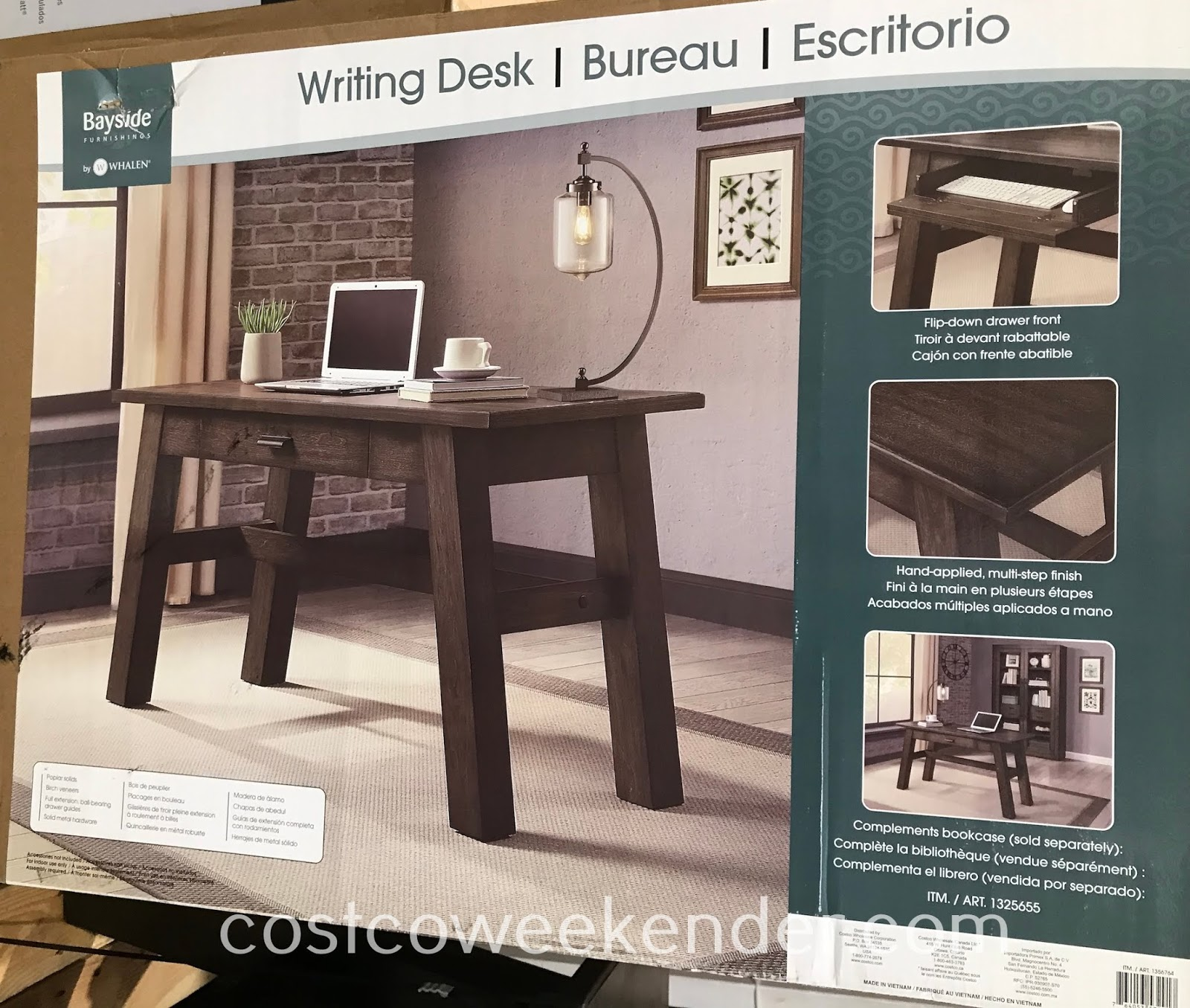 Costco 1356764 - Bayside Furnishings East Hill Writing Desk: great for any home