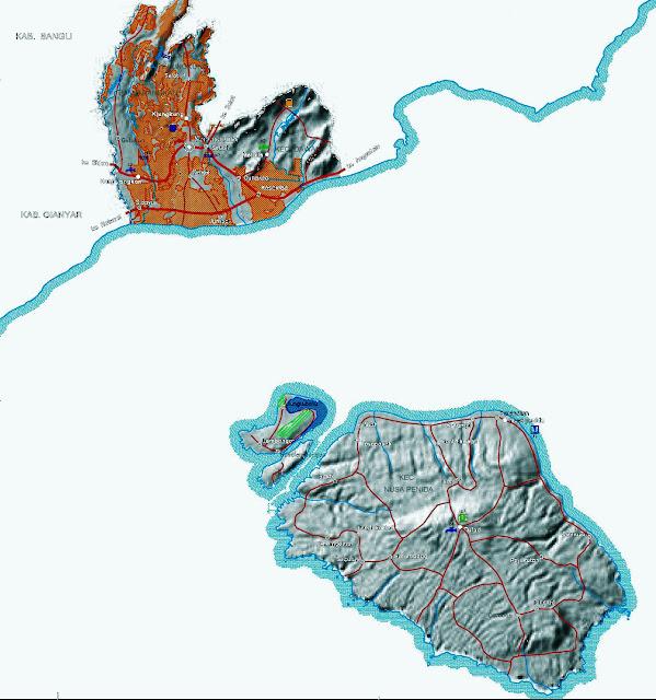 Gambar Peta infrastruktur Kabupaten Klungkung