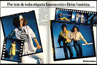 propaganda Brim Santista - 1979. moda anos 70; propaganda anos 70; história da década de 70; reclames anos 70; brazil in the 70s; Oswaldo Hernandez