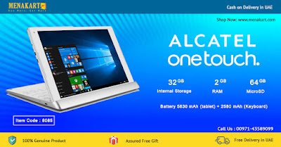 Alcatel Windows10 - 10.1 Inch Tablet 4G Plus Keyboard (8085)