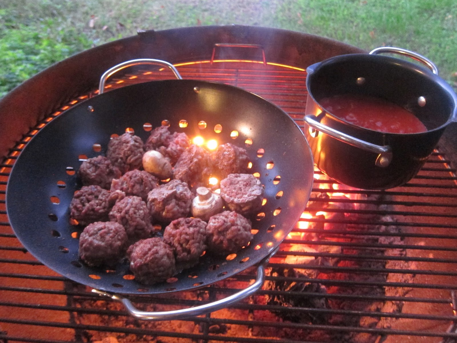 barbecue master bertolli sauce and smoked meatballs on