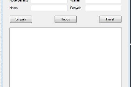 Membuat Pencarian Dinamis Menggunakan Class Database Pada VB.NET