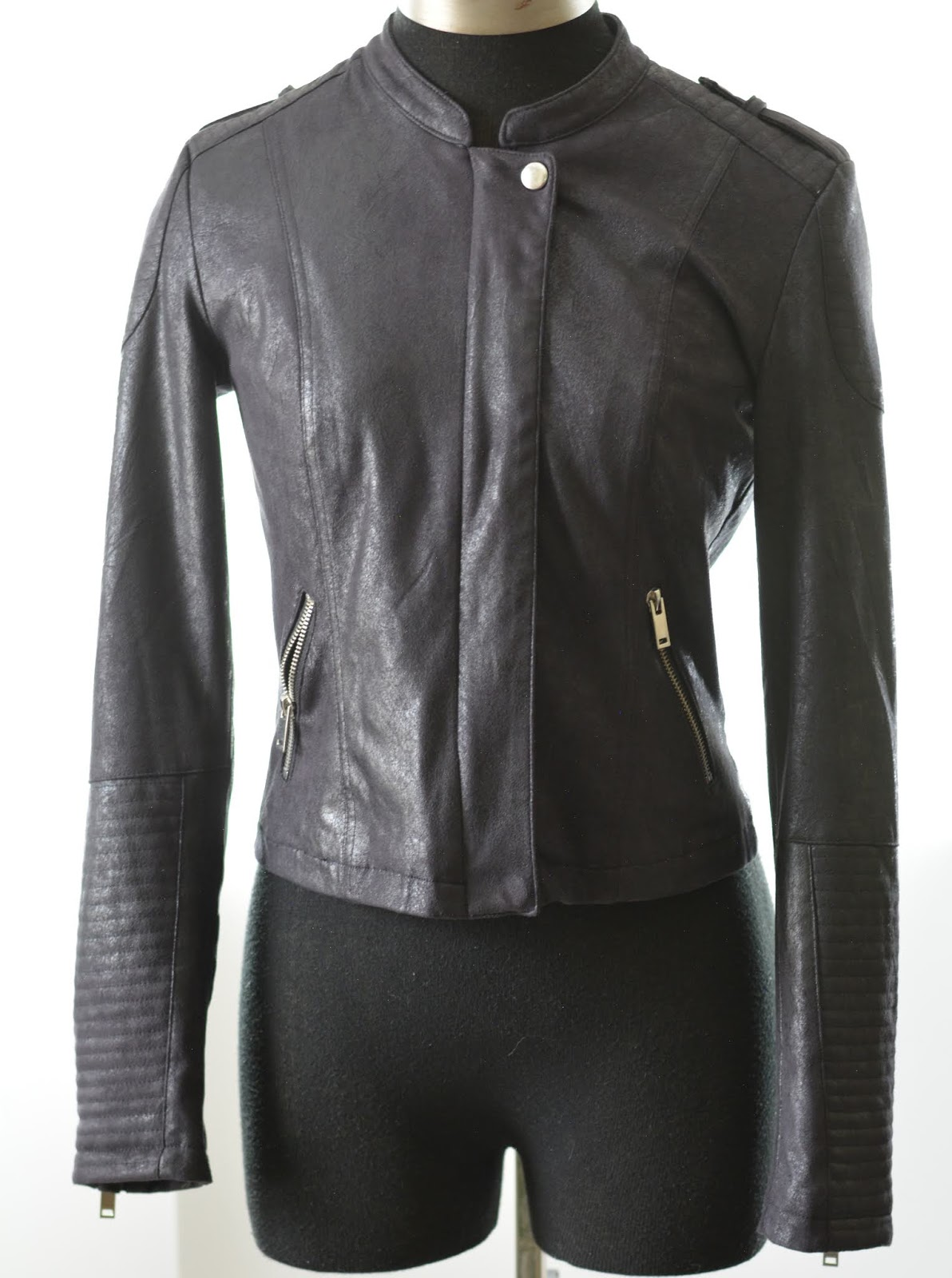 dex faux leather jacket