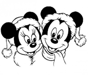 Disney Christmas Coloring Pages printable for Kids, Preschoolers & Adults