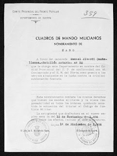 Manuel Alberdi Cuadro de Mando Miliciano Cabo