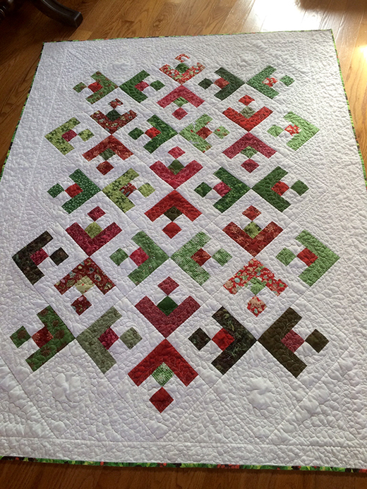 Snowflake Quilt made by Jillmc from Quilting Board, The pattern designed by BERNINA Ambassador Faith Jones