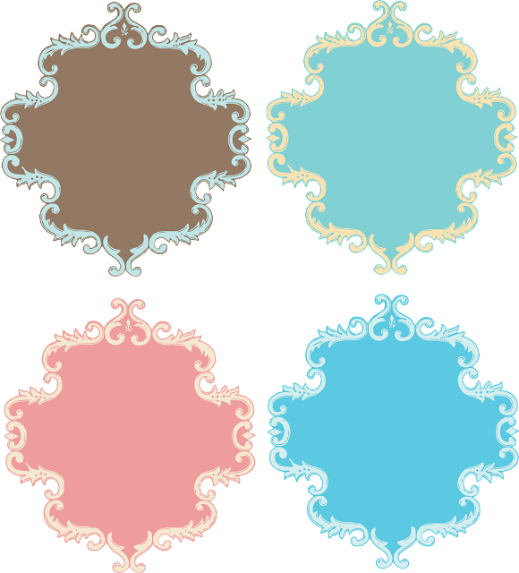 Retro Colored Free Printable Labels.