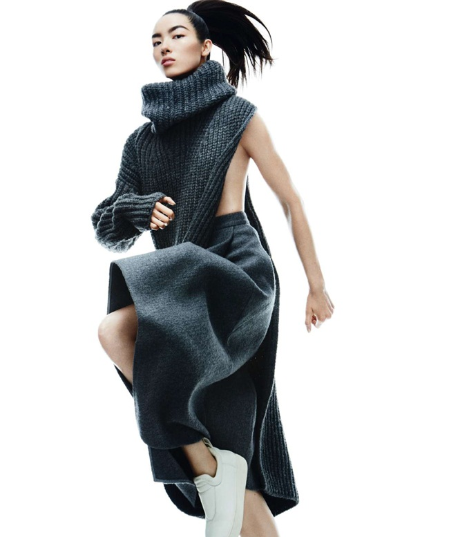 Stella McCartney 2015 AW: One Shoulder Knitting Dress With High Slit