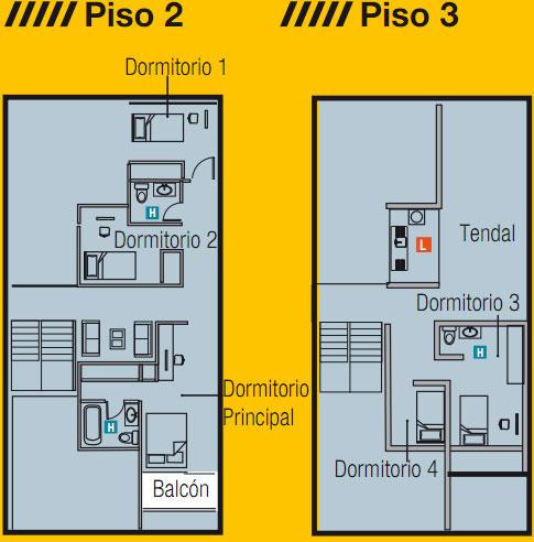 Planos de vivienda de 3 pisos 8x16m planos de casas for Planos de viviendas de un piso