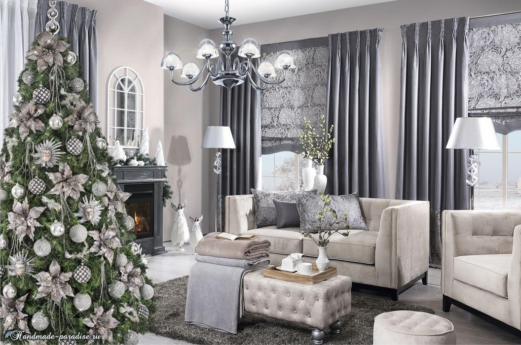 Красивый дизайн интерьера к Рождеству (5)