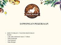 lowongan kerja waiters pawon rempah surabaya