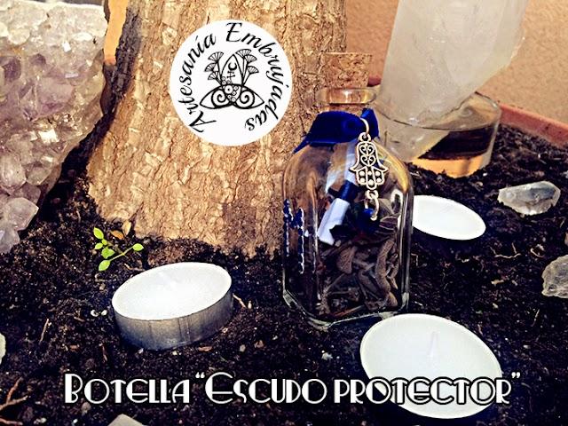 """Botella de bruja """"Escudo protector"""""""