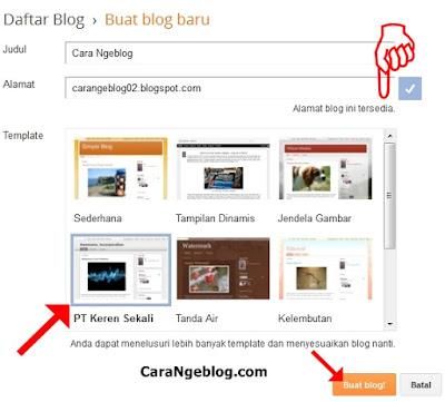 Cara Membuat Blog dan Contoh template blog di blogspot