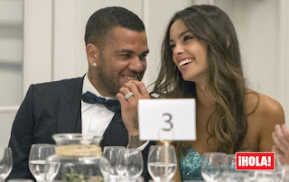Dani alves and girlfriend Joana Sanz