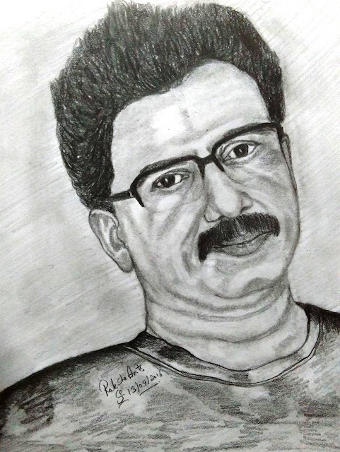PENCIL DRAWING -  TRICHY K SHIVA