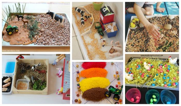 ejemplos de cajas sensoriales para acompañar libros y cuentos de la granja
