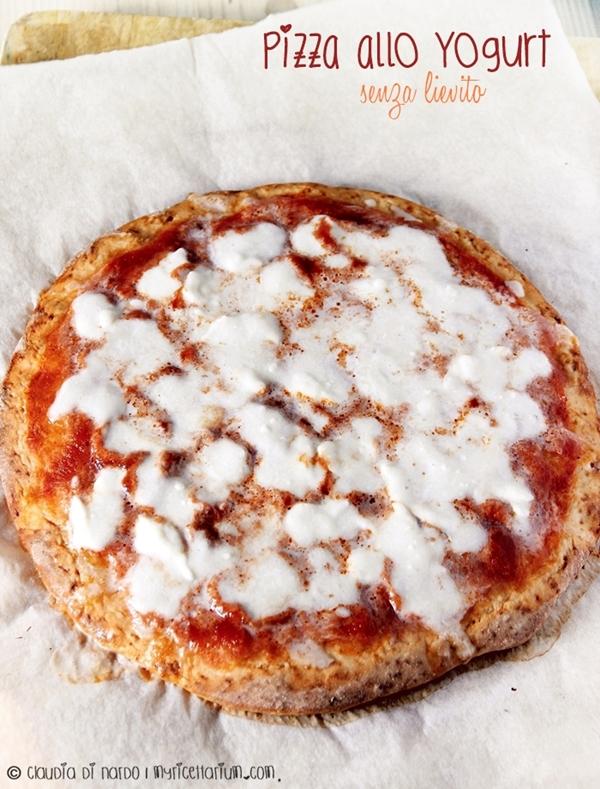 Pizza allo yogurt, senza lievito