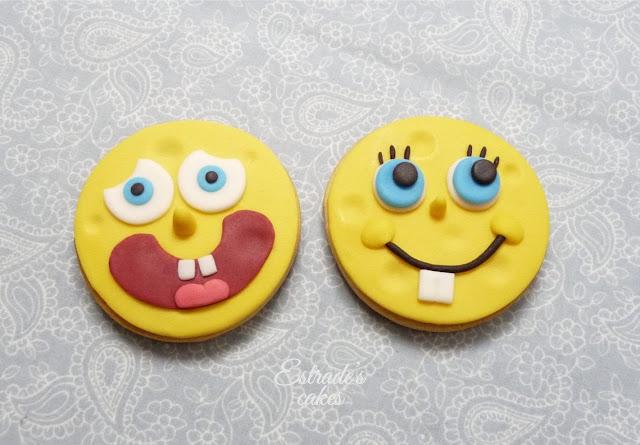 galletas con fondant de Bob Esponja - 1