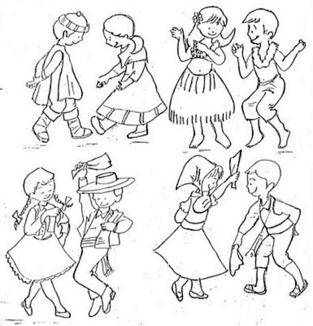 dibujo de danzas tipicas del peru para colorear dibujos