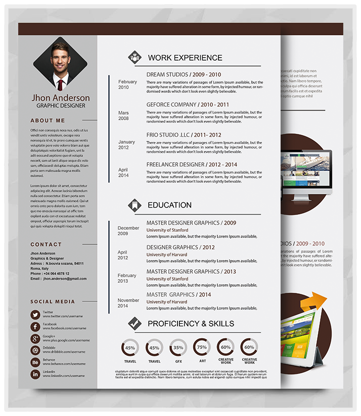 Word Doc Resume Template: Best Professional Resume Templates (PSD, AI, Word)