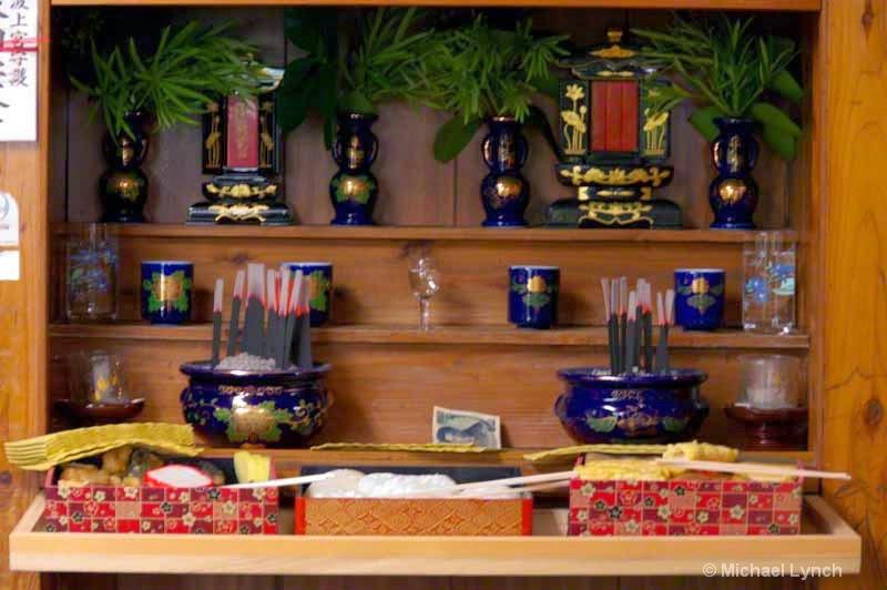 family altar,butsudan,inscence burning