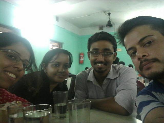 Selfie at coffee house-with-shreya-tiyasha-adwitya-abhirup
