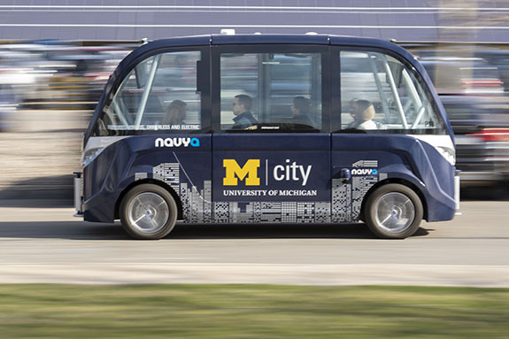 Mcity autonomous testing facility in Ann Arbor, Michigan, uses controlled conditions to put self-driving vehicles through real-world issues and challenges