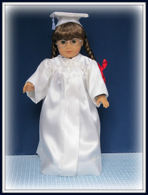 8d7065296a0 I also decided to make a graduate cap and gown for the Molly American Girl  Doll that hubby had given me several years ago for Christmas.