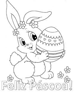Coisinhas Para Criancas Feliz Pascoa Para Colorir
