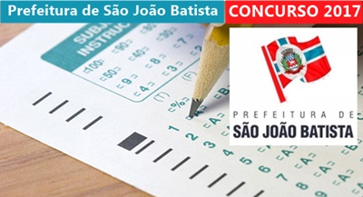 Concurso Prefeitura de São João Batista-SC 2017