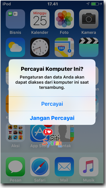 percayai komputer ini di iPhone