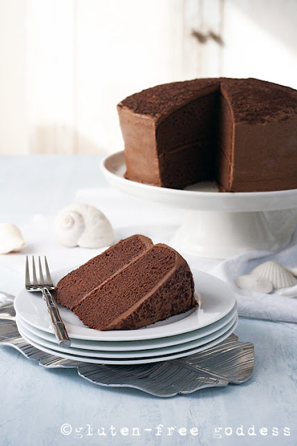 Party worthy: Gluten-Free Chocolate Layer Cake from Karina, Gluten-Free Goddess