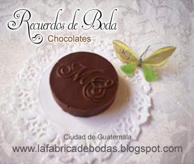 Recuerdos de boda originales unicos creativos chocolates personalizados guatemala