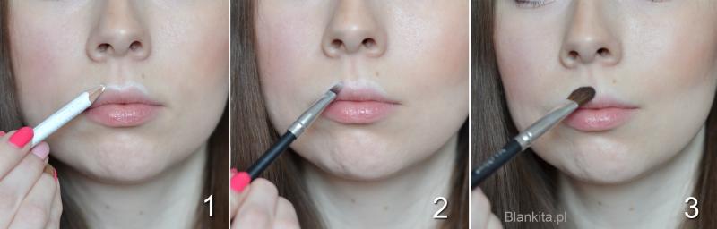 krok po kroku, powiększanie ust, jak powiększyc usta, makijaż powiększający usta