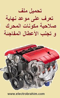 تعرف على موعد نهاية صلاحية مكونات المحرك و تجنب الأعطال المفاجئة