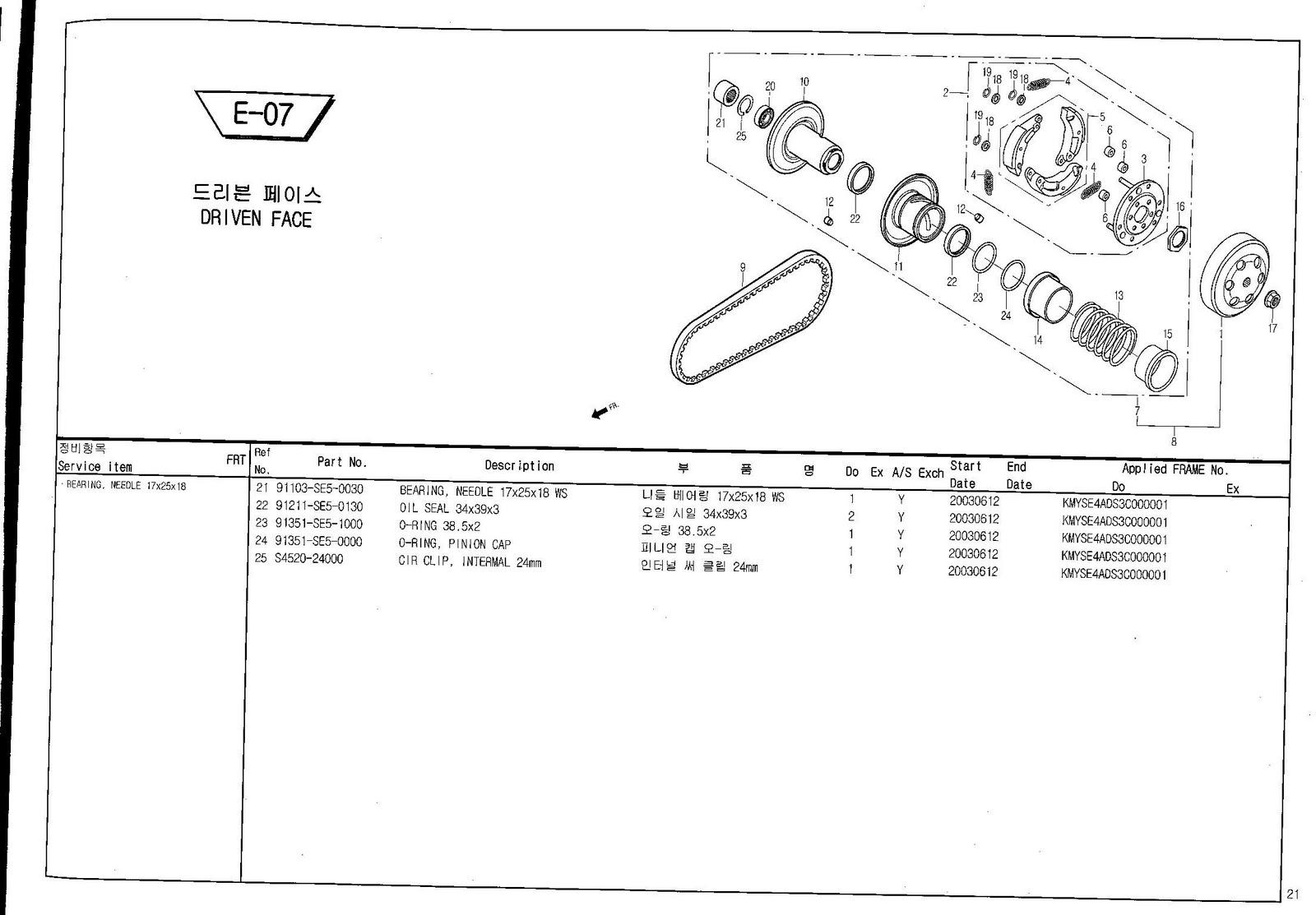 Martin Racing Performance: Daelim 50cc Parts Manuals for MRP