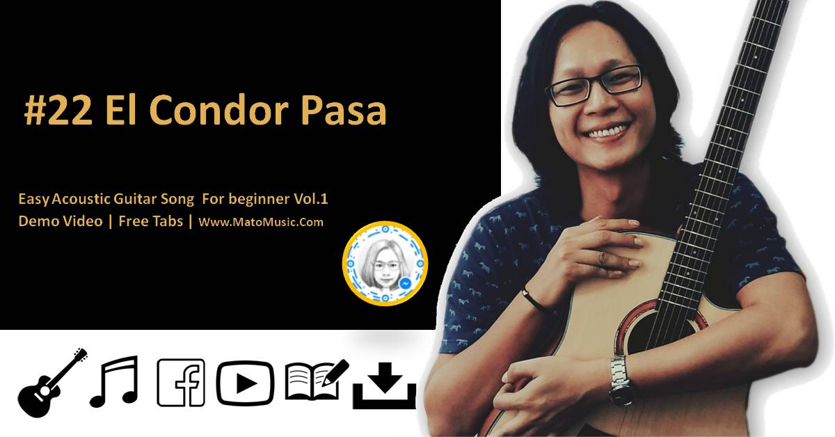 El Condor Pasa Acoustic Guitar Tabs For Beginner | Video | Tabs by Mato Music