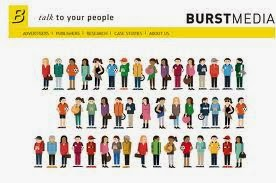 burst media  CPM ad network