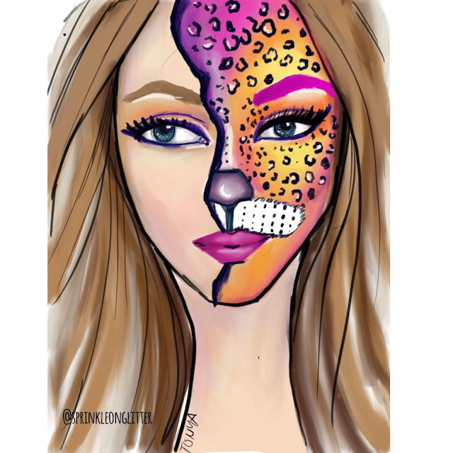 Sprinkle on Glitter Blog// rainbow leopard// halloween