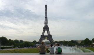 París. La Torre Eiffel desde el mirador del Trocadero.