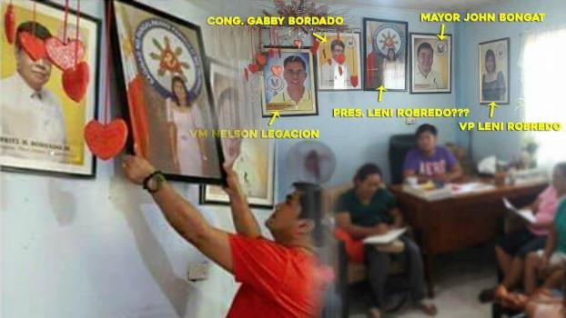 Walang respeto sa Pangulo: Barangay officials of Naga City blast by netizens for rearranging the office