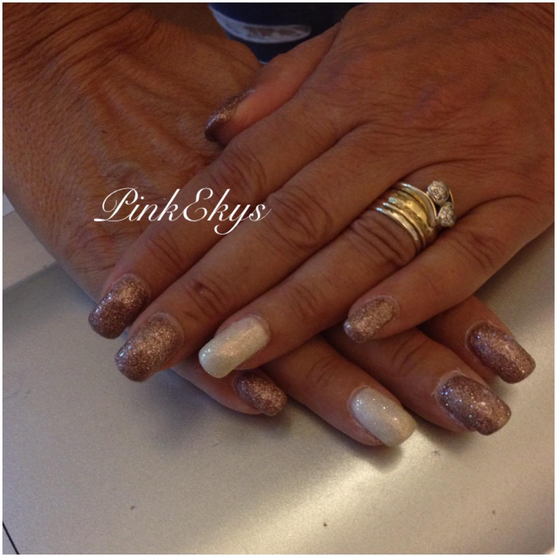 Pinkekys Unghie In Gel Glitter Autumn